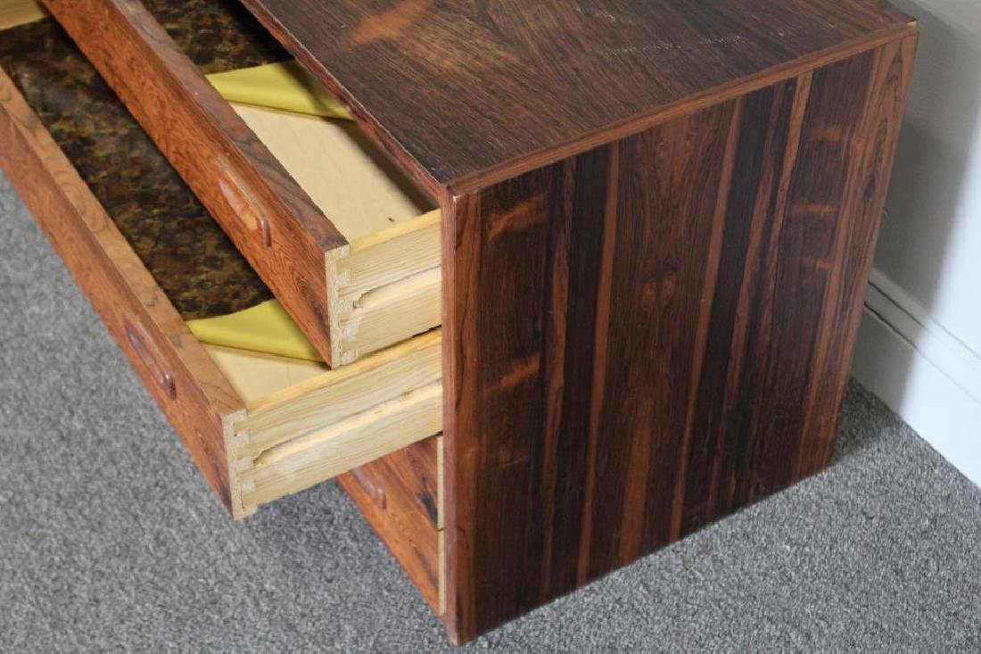 MIDCENTURY. Rosewood Wall Hung Unit Together With - 7