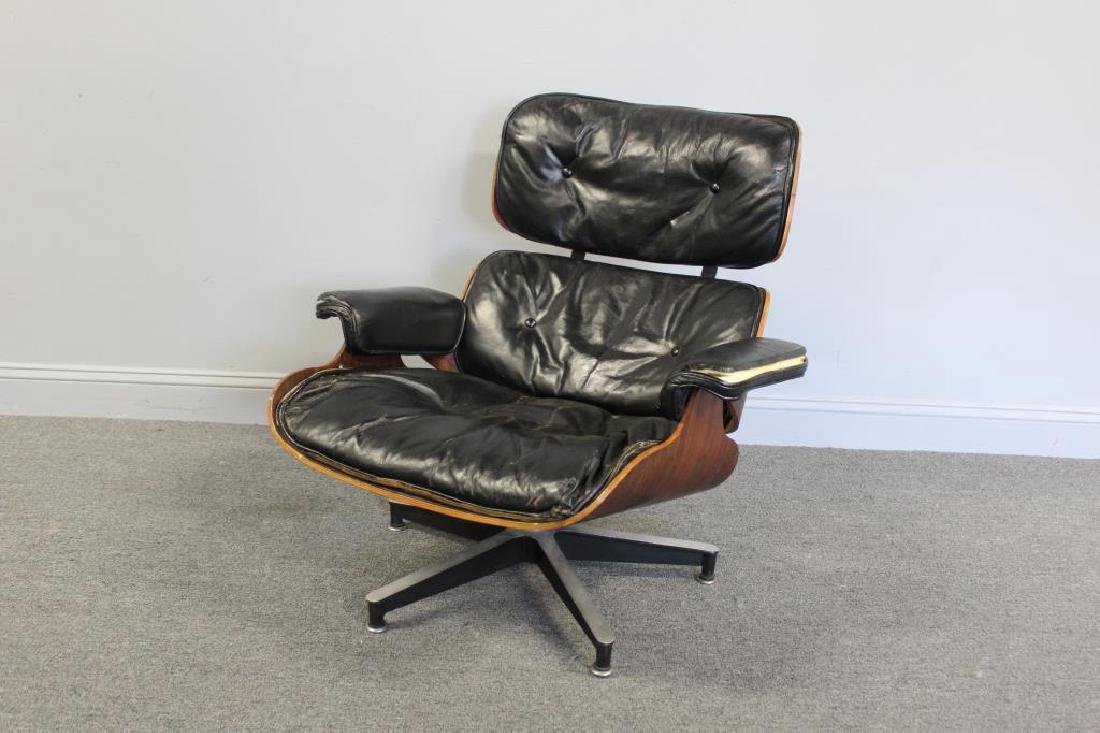 EAMES, Charles. Rosewood Lounge Chair.