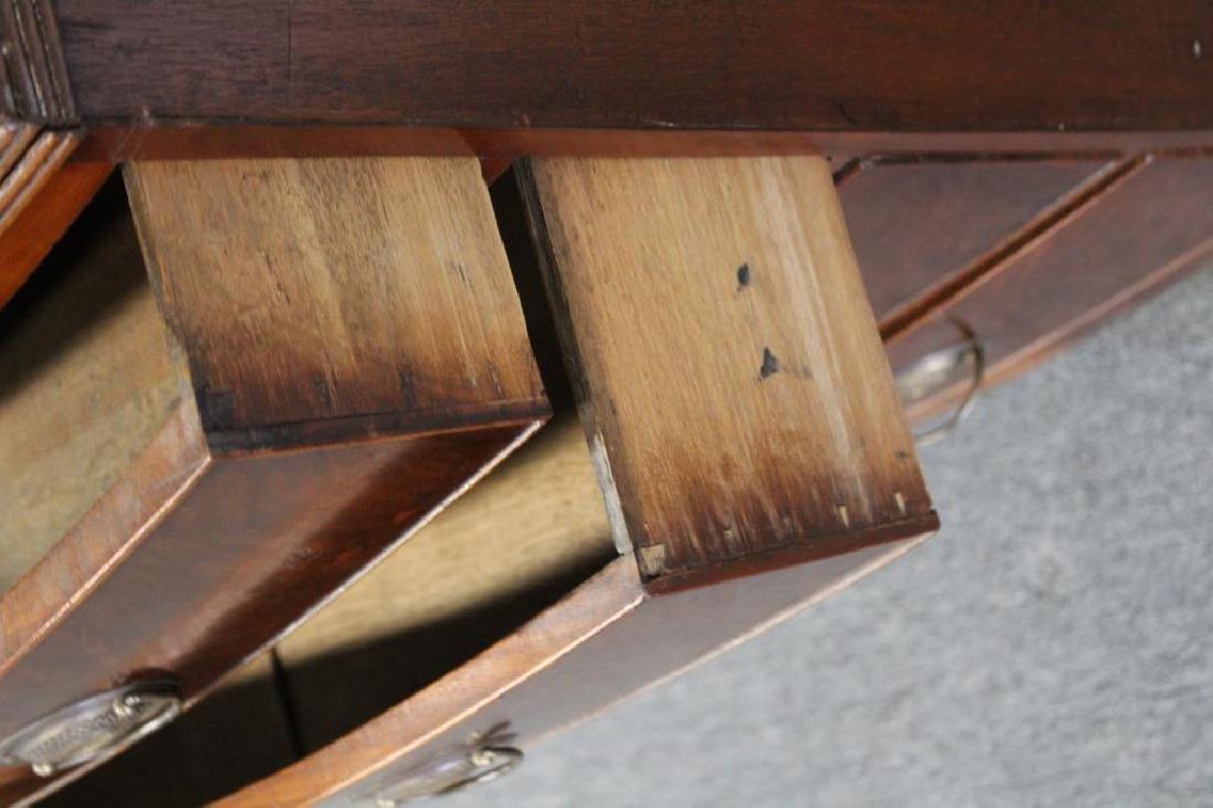 19 Century Mahogany Bow Front Commode with - 5