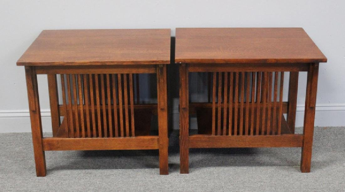 STICKLEY, Audi. Pair of Arts and Crafts Style