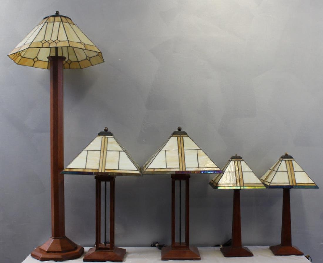 STICKLEY, Audi. Lot of 5 Arts and Crafts Style