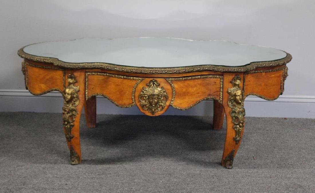 19 Century Bronze Mounted Center Table Cut