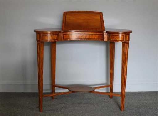 - Antique Kidney Shaped Ladies Writing Desk.