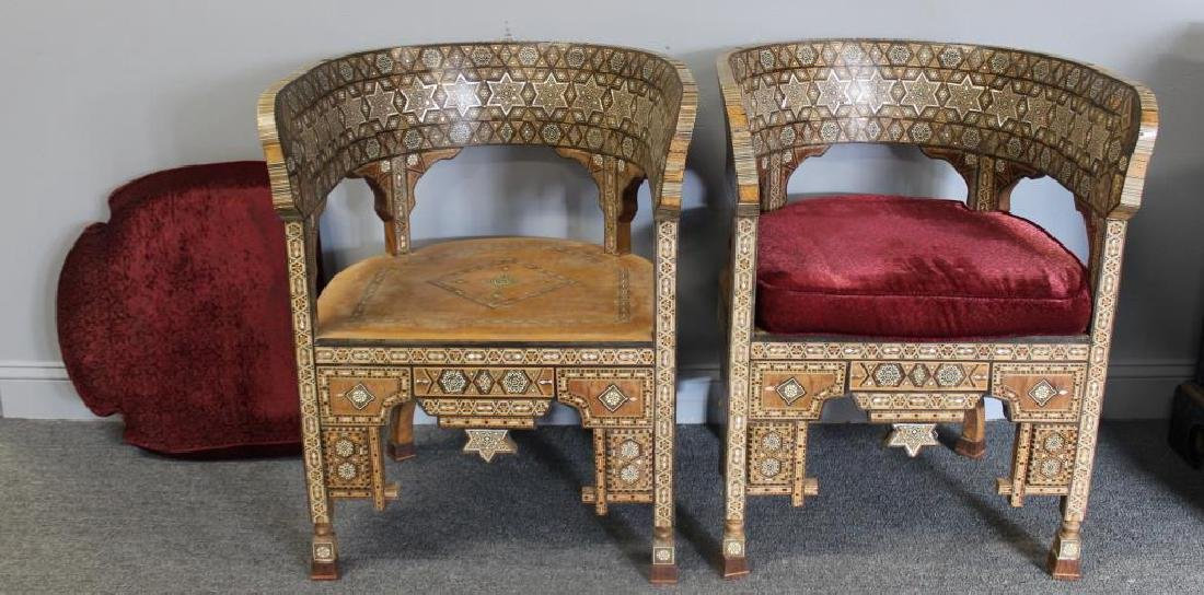 Pair of Mother of Pearl Inlaid Anglo Indian