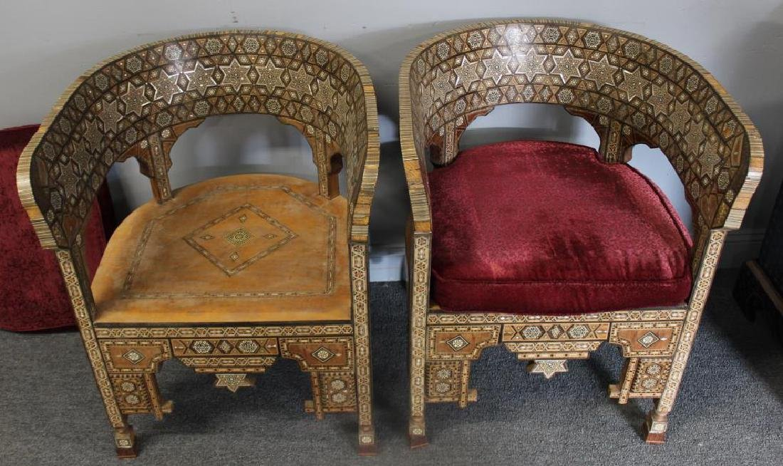 Pair of Mother of Pearl Inlaid Anglo Indian - 2