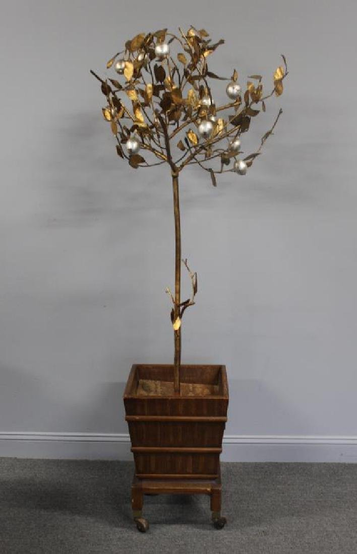 Decorative Silver and Gilt Metal Lemon Tree
