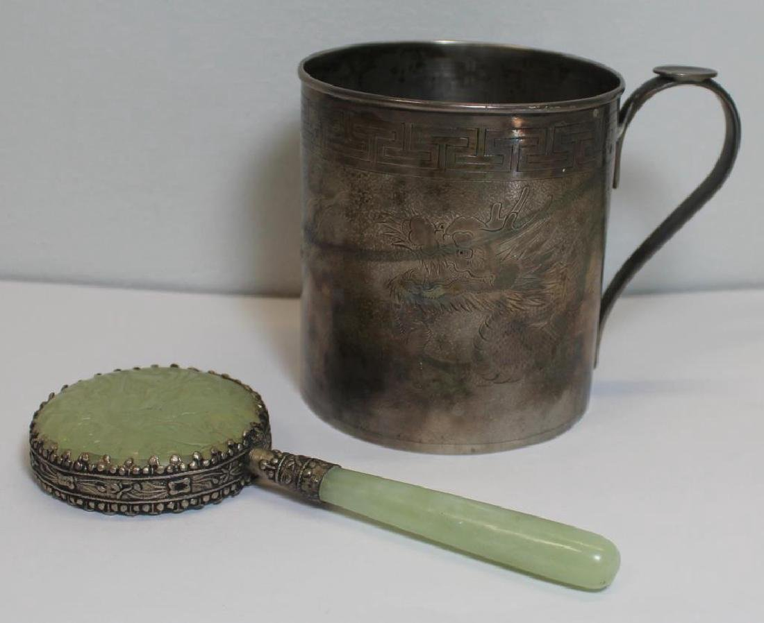 SILVER. Asian Decorative Grouping.