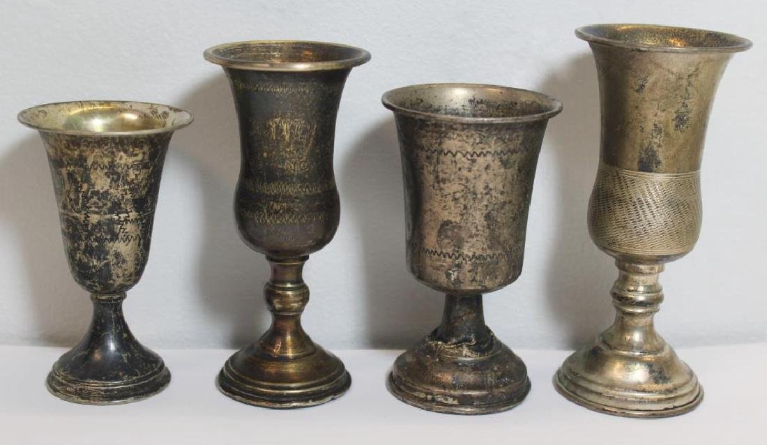 SILVER. Assorted Grouping of Judaica Silver Items. - 6