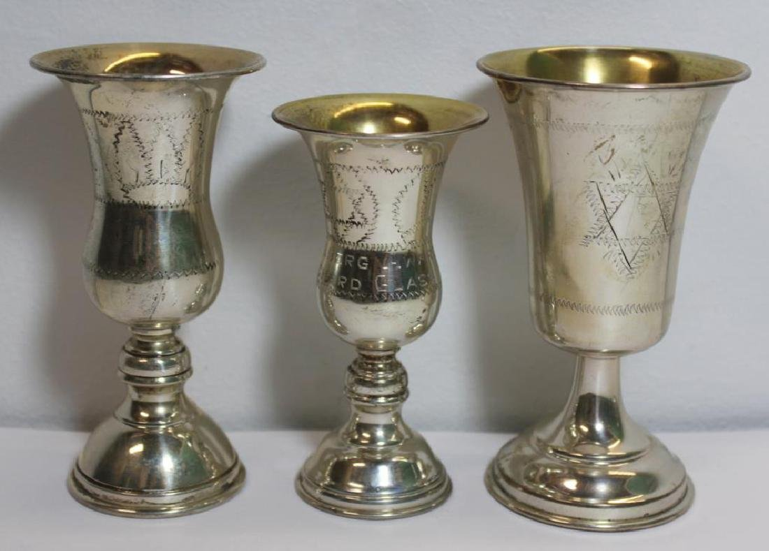 SILVER. Assorted Grouping of Judaica Silver Items. - 7