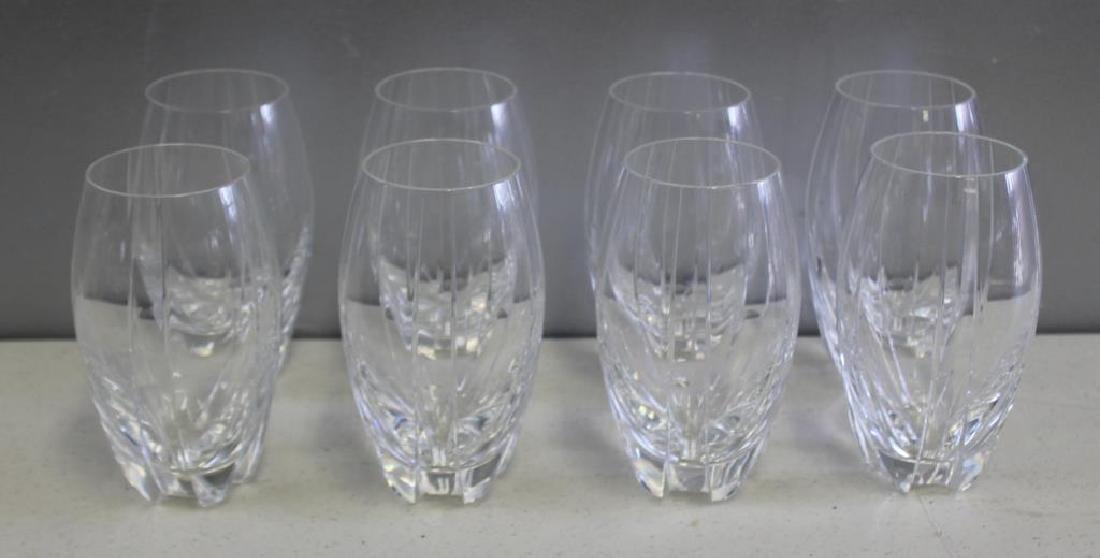 BACCARAT. Set Of 8 Cut Glass Tumblers .