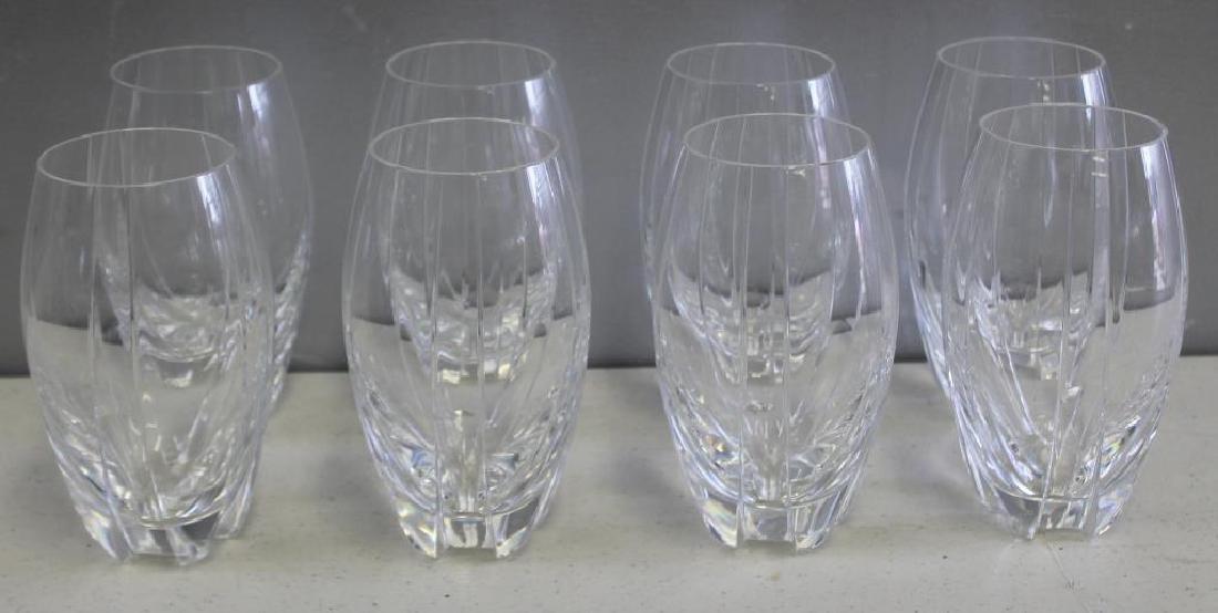 BACCARAT. Set Of 8 Cut Glass Tumblers . - 2