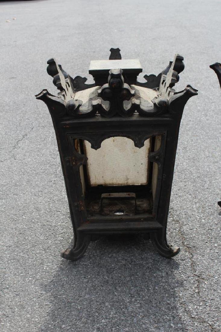 5 Antique Iron and Glass Lanterns. - 4
