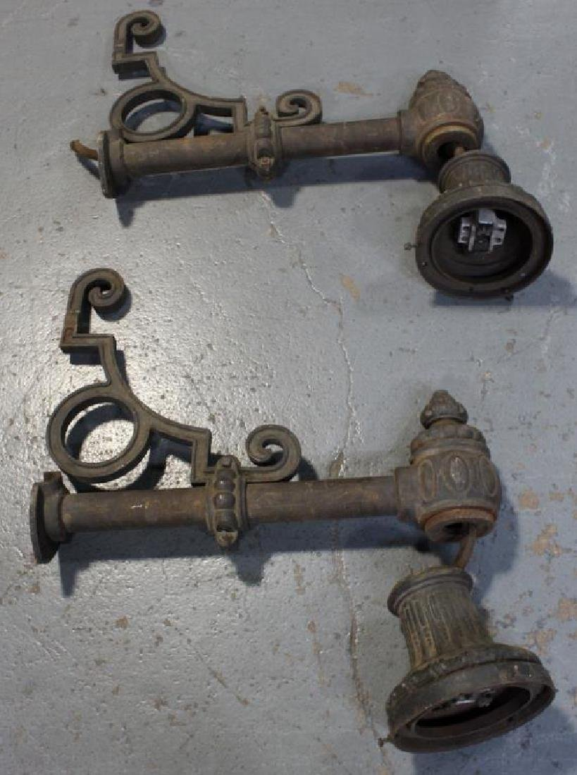 A Pair of Cast Iron Large Outdoor Street Lamps - 2