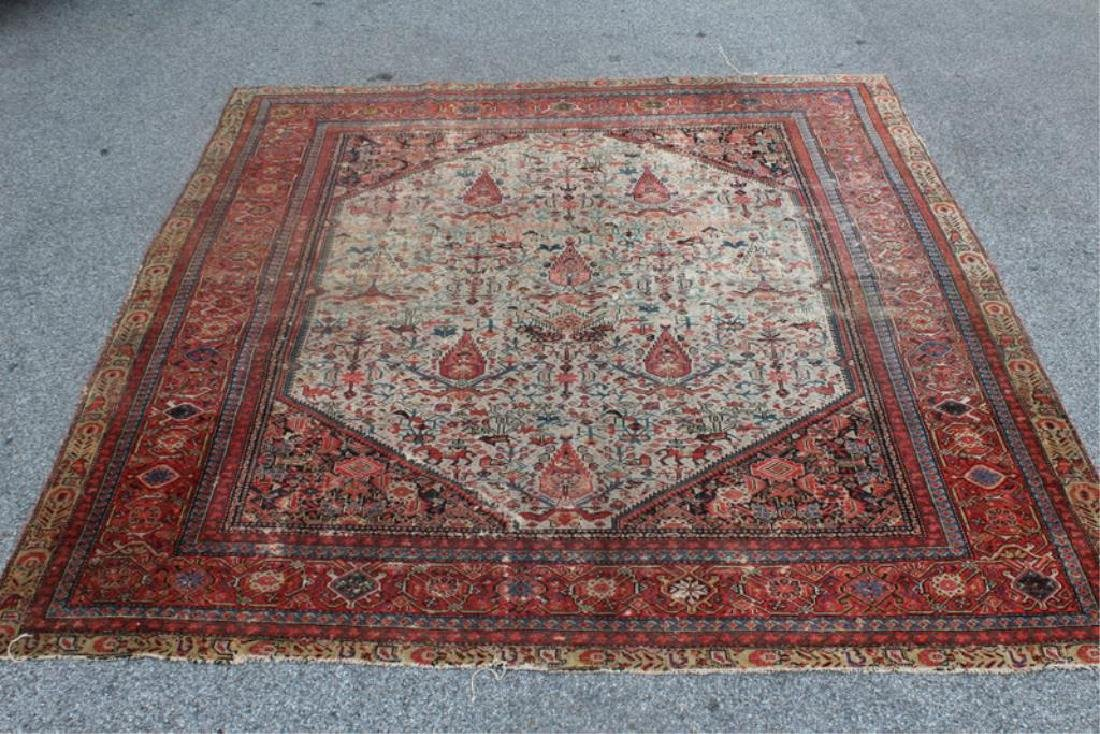 Antique and Finely Woven Kirman ? Carpet.