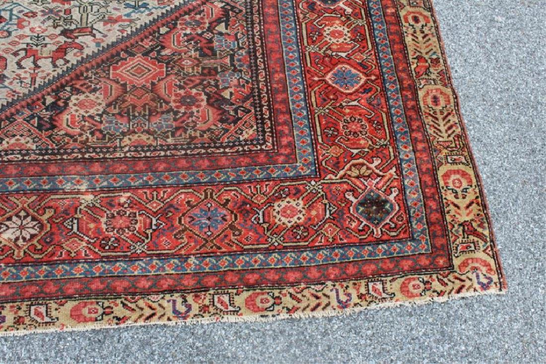 Antique and Finely Woven Kirman ? Carpet. - 2