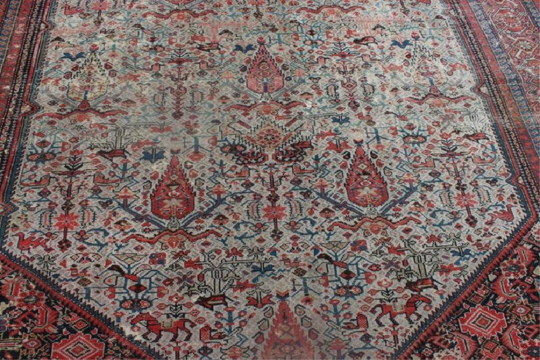 Antique and Finely Woven Kirman ? Carpet. - 3