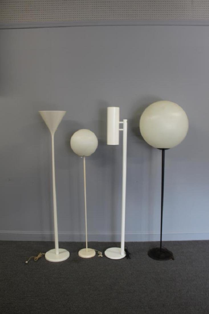 MIDCENTURY. Lot Of Assorted Standing Lamps .