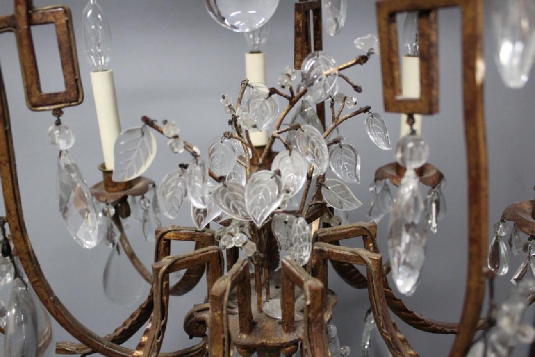Antique Gilt Metal and Crystal Pagoda Form - 4