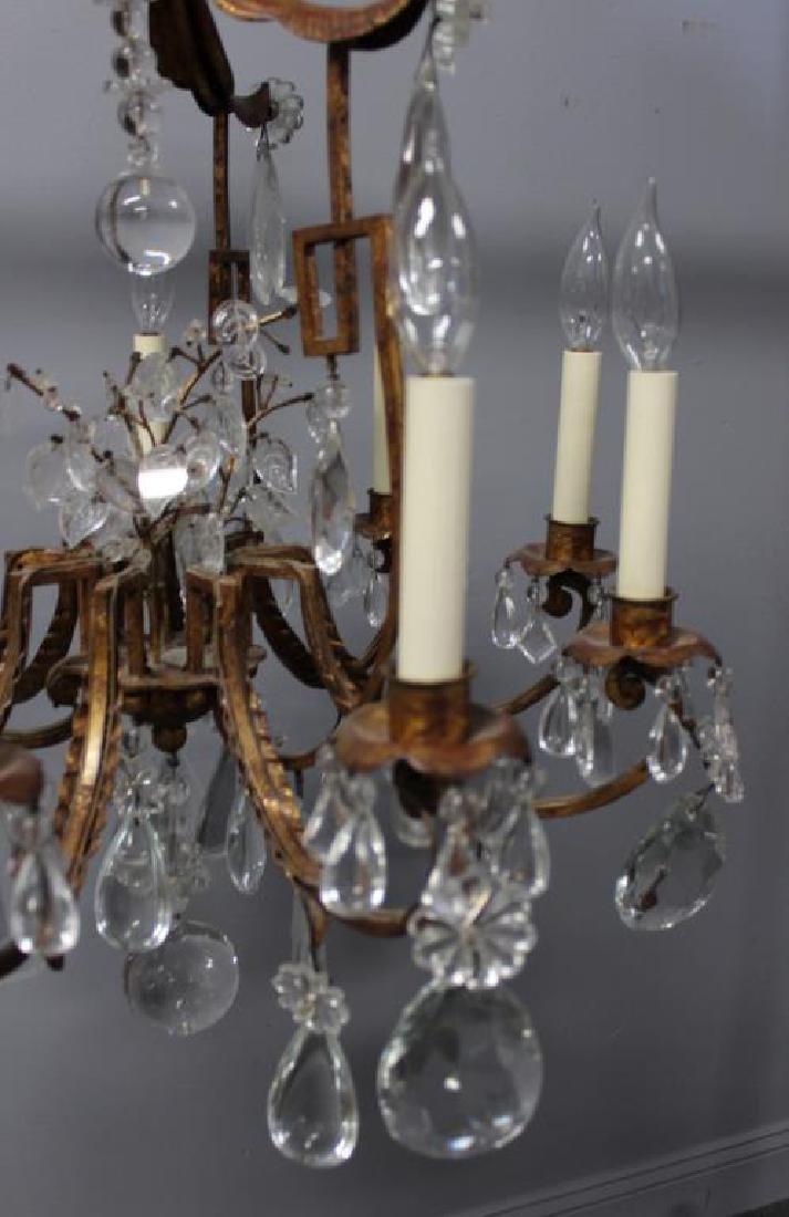 Antique Gilt Metal and Crystal Pagoda Form - 5