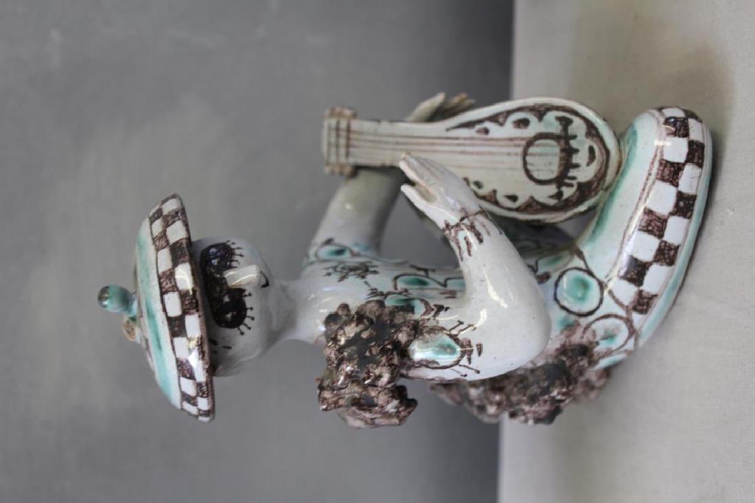 WINBLADT,Bjorn. 4 Signed Glazed Terracotta Figures - 4