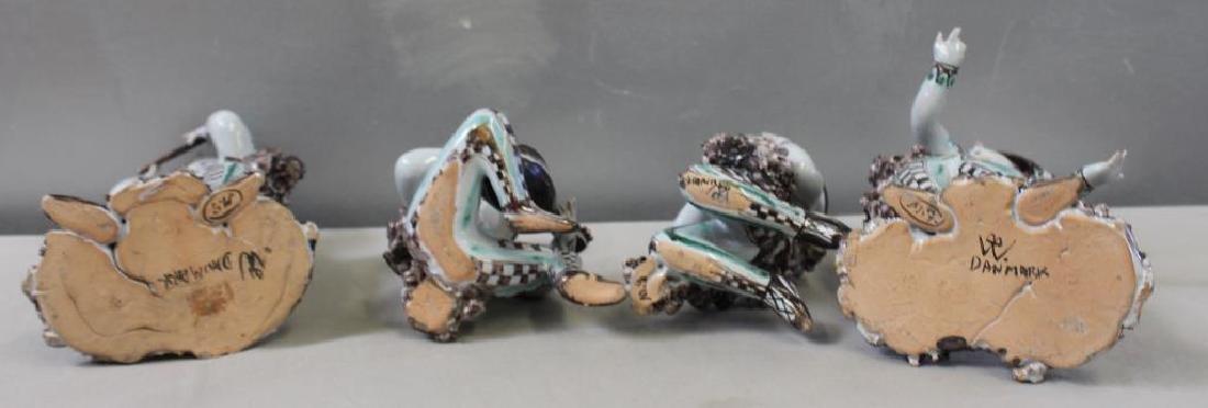 WINBLADT,Bjorn. 4 Signed Glazed Terracotta Figures - 6