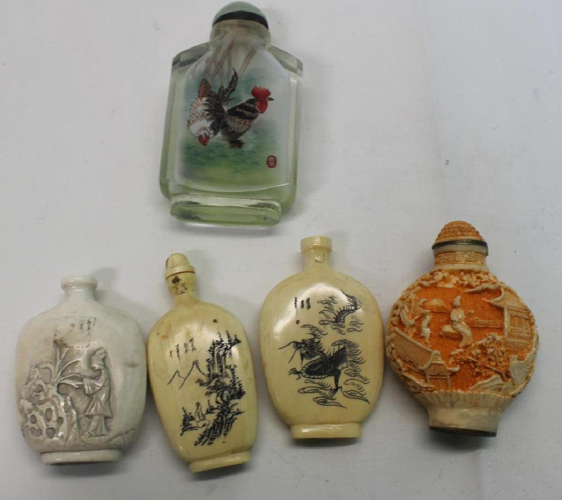 Antique Asian Grouping Of Snuff Bottles - 2