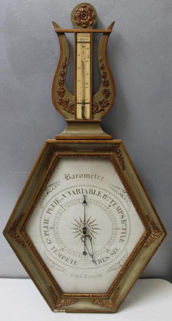 Antique French Barometer / Thermometer