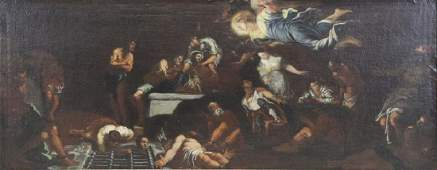 "Attributed to Giuseppe Maria Crespi. ""Release of"