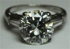 JEWELRY GIA 539 Ct Diamond and Platinum Ring
