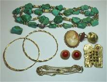 JEWELRY Assorted Jewelry Grouping Inc Gold