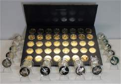 SILVER. Assorted Set of Silver Medallions/Ingots.