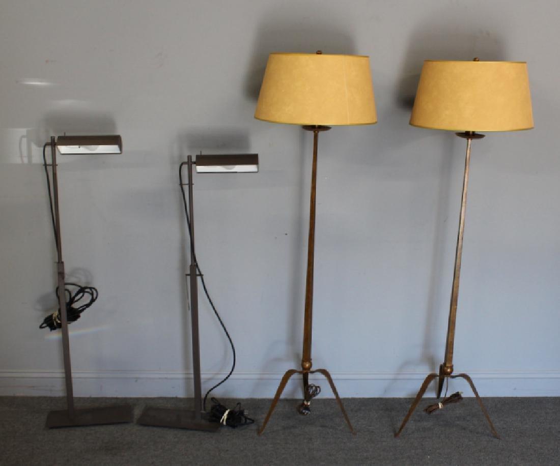 2 Pair of Holly Hunt Floor Lamps.
