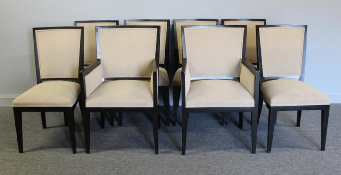 Holly Hunt / Mattaliano Set of 8 Dining Chairs.
