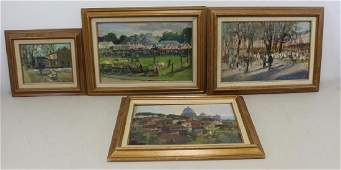 GRISELL, Susan. Lot of 4 Oil on Board.