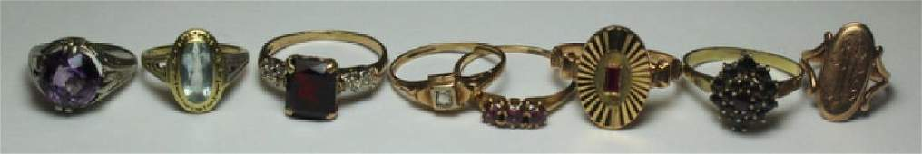 JEWELRY Assorted Gold Ring Grouping