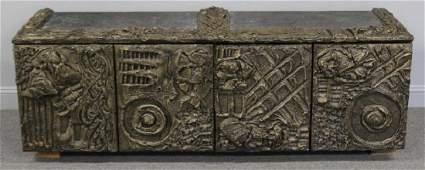 MIDCENTURY. Paul Evans Sculptured Metal Wall Hung