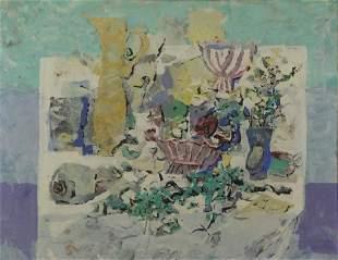 BLANCH, Arnold. Oil on Board. Still Life, 1958.