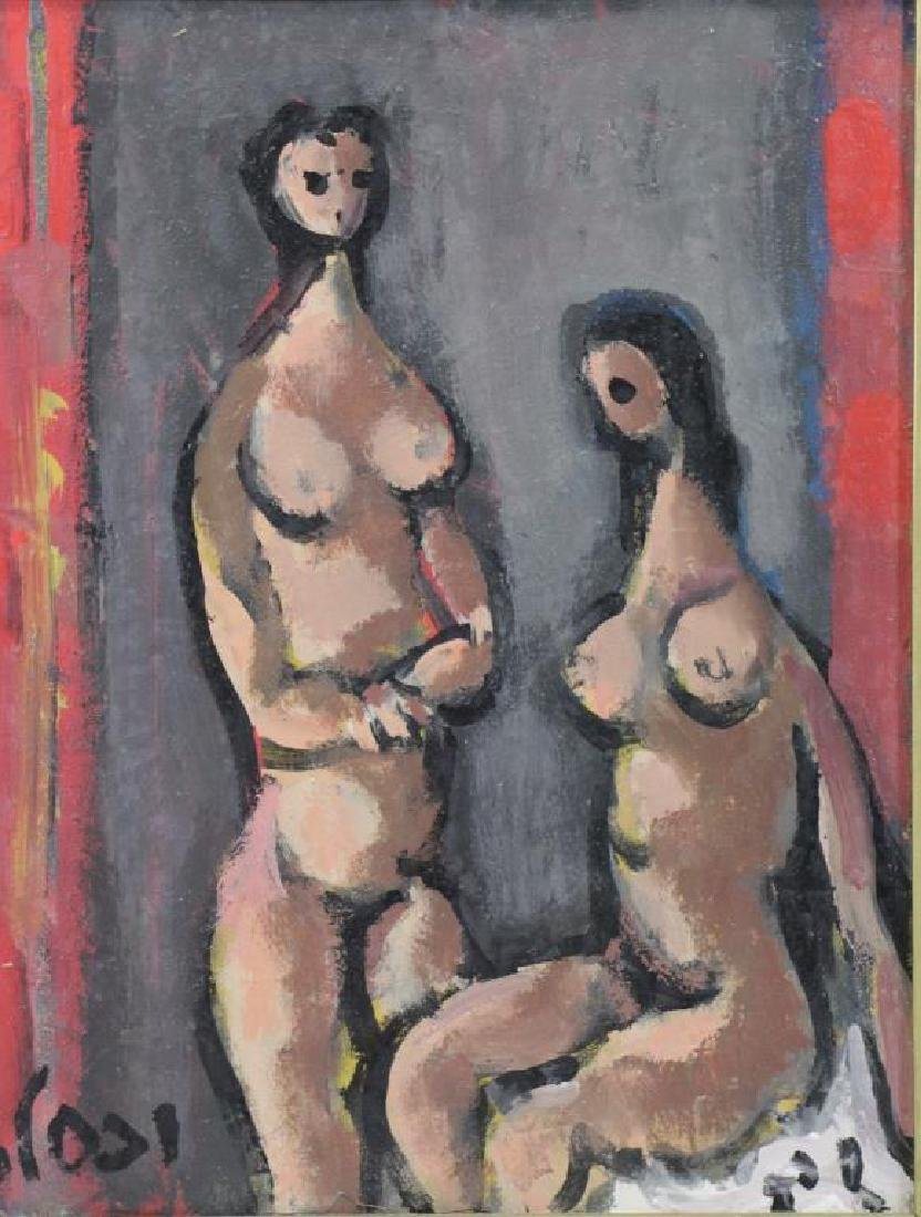 "WEXLER, Jacob. Oil On Canvas. ""Nude"