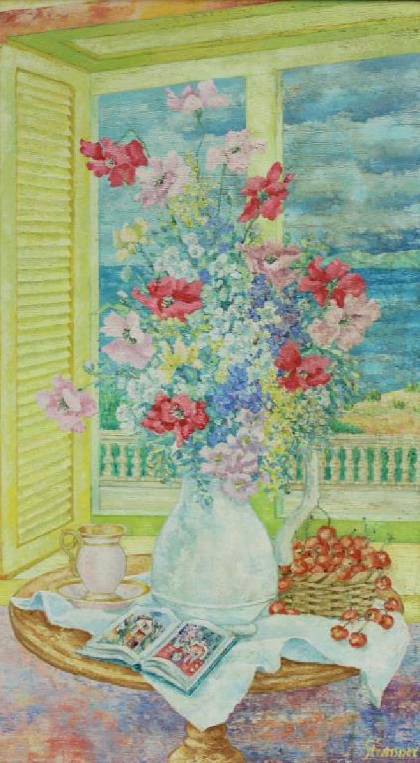 STRASSNER, Ernst. Oil on Canvas. Floral