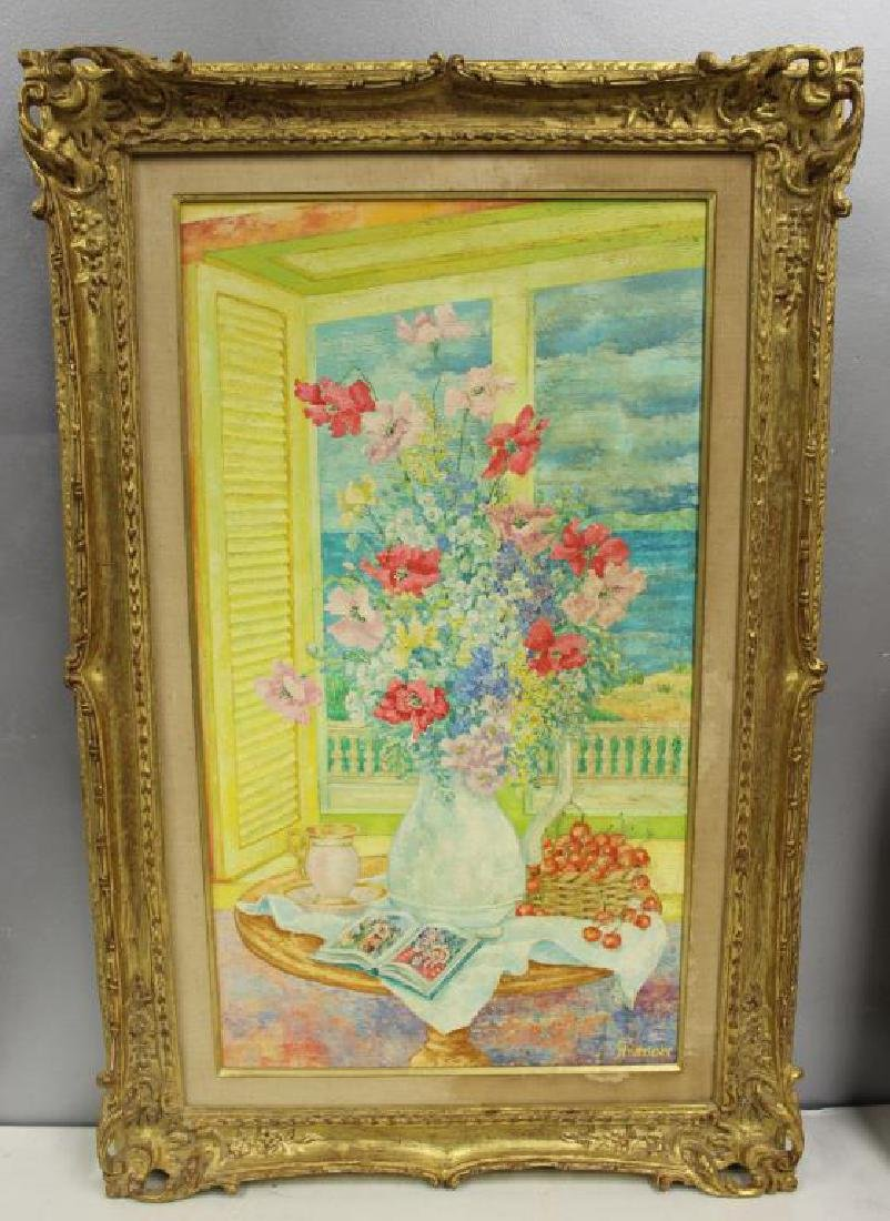 STRASSNER, Ernst. Oil on Canvas. Floral - 2