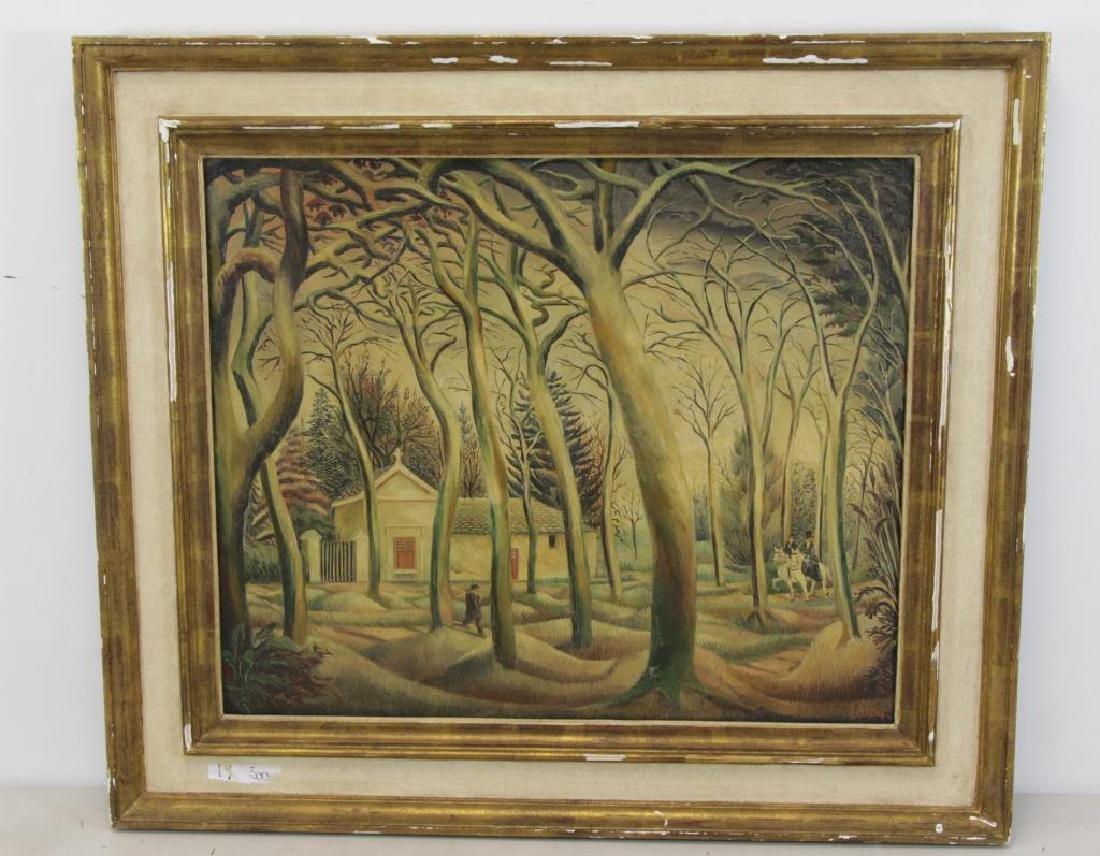 LASCAUX, Elie. Signed Oil on Canvas. - 2