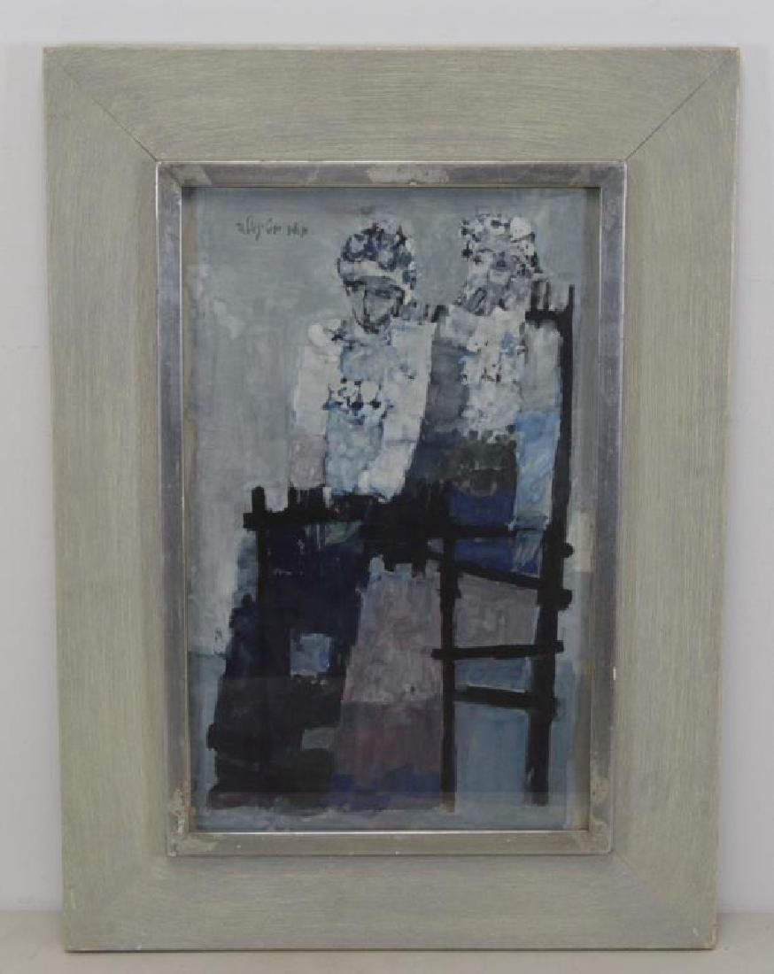 STEINGOLD, Meir. Gouache on Paper. Seated Figures. - 2