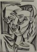 McNeill Lloyd Signed Charcoal Drawing 1990