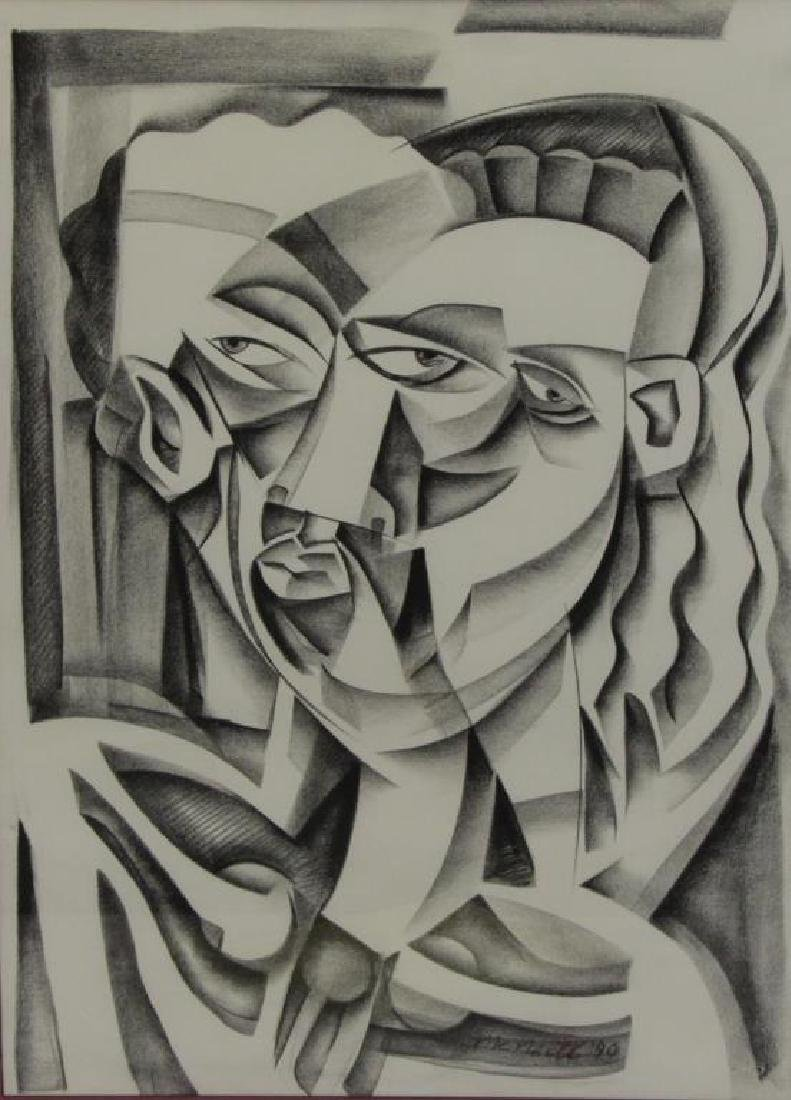 McNeill, Lloyd. Signed Charcoal Drawing. 1990.