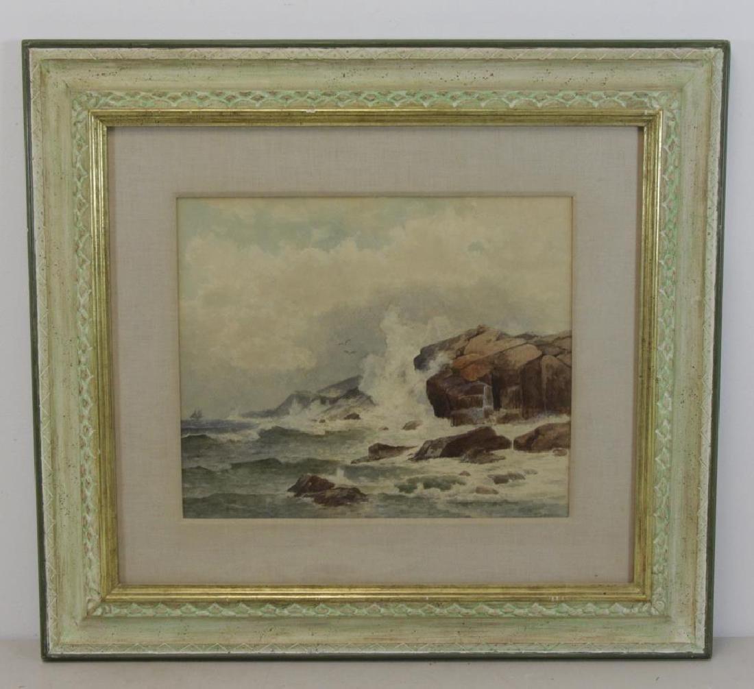 """HUSTON, William. Watercolor. """"Boat at Sea"""". - 2"""