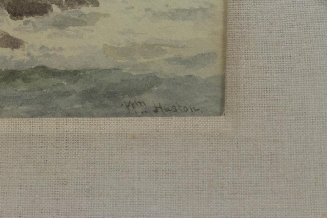 """HUSTON, William. Watercolor. """"Boat at Sea"""". - 4"""