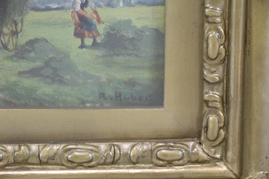 "HUBER, R. Watercolor. ""Harvesters"". - 3"