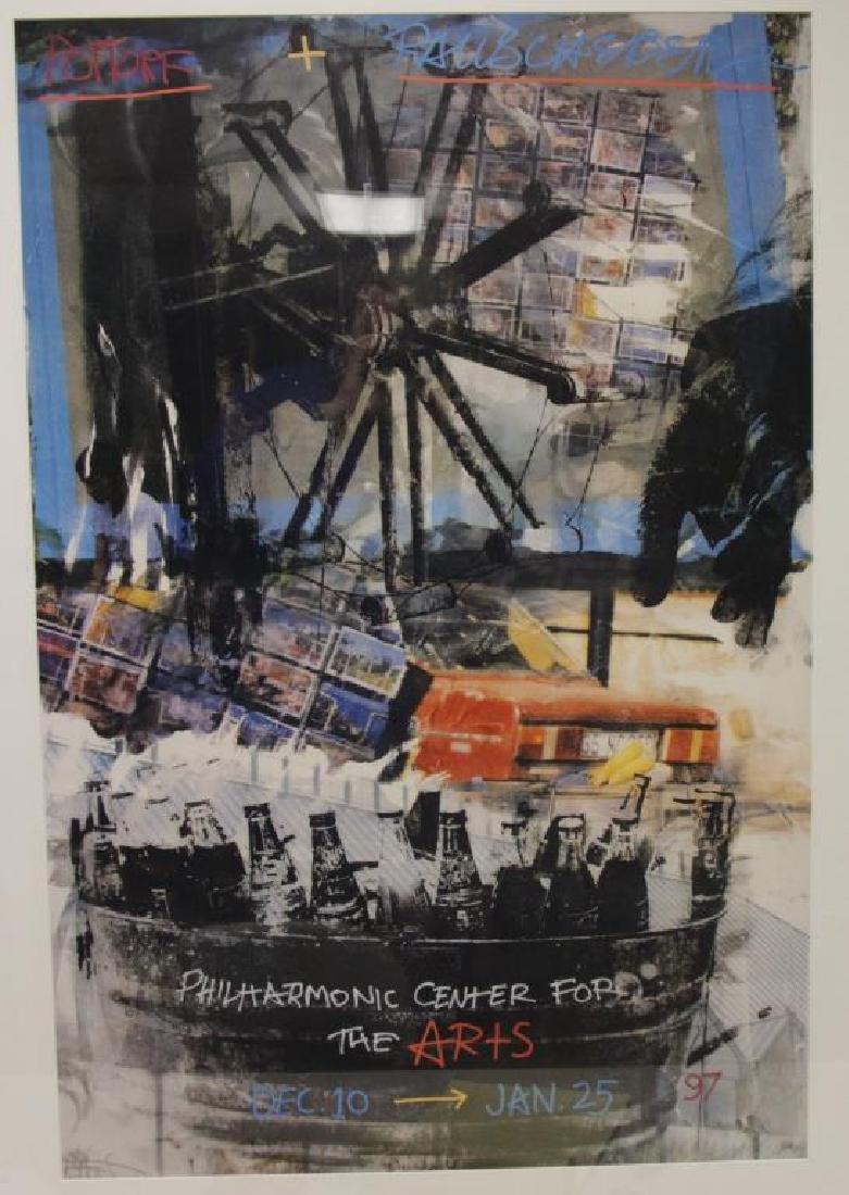 RAUSCHENBERG, Robert. Pencil Signed Poster.