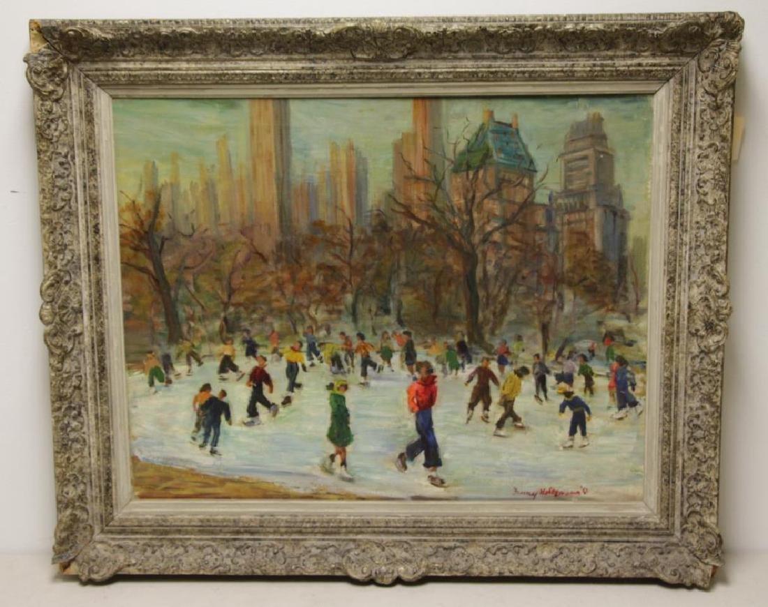 """HOLTZMANN, Fanny. Oil on Canvas. """"Central - 2"""
