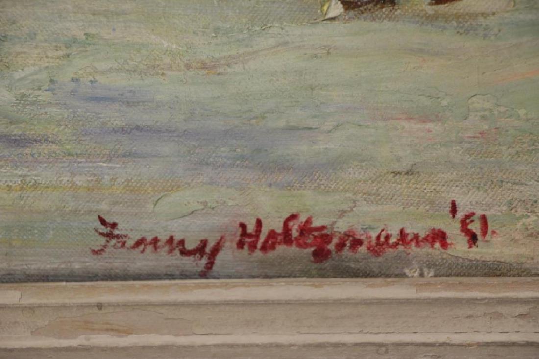 """HOLTZMANN, Fanny. Oil on Canvas. """"Central - 3"""